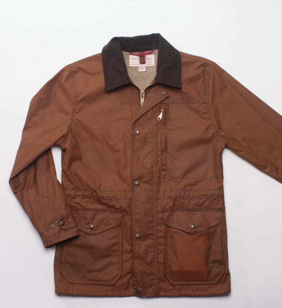 Filson Cover Cloth Mile Marker Coat Seattle Fit Brown