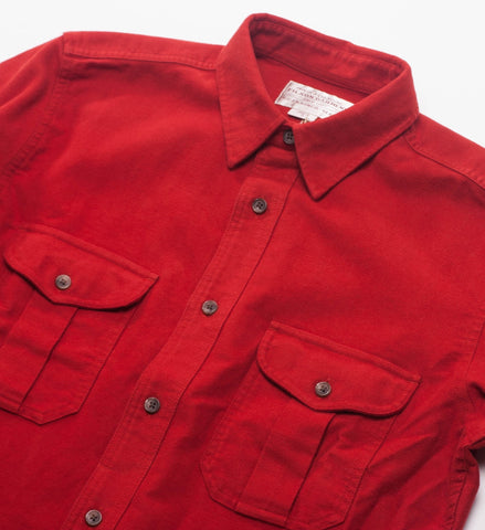 Filson Moleskin Seattle Shirt Burnt Orange