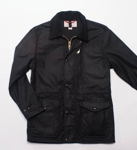 Filson Cover Cloth Mile Marker Coat Seattle Fit Black