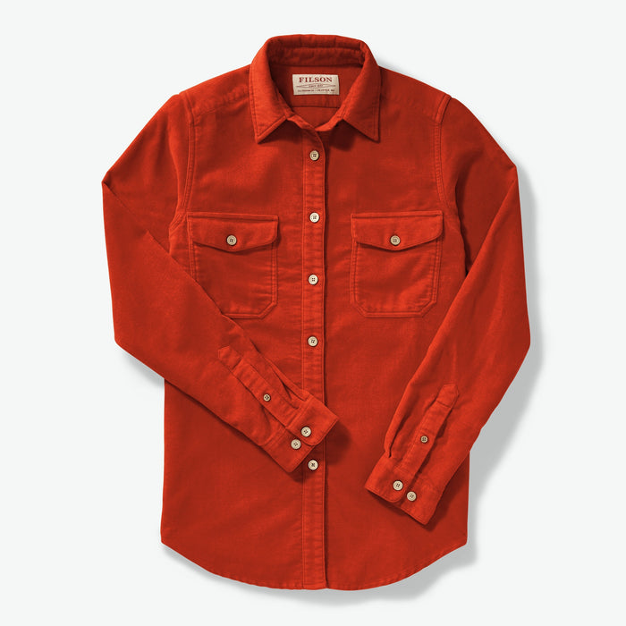 Filson Women's Moleskin Shirt, Burnt Orange