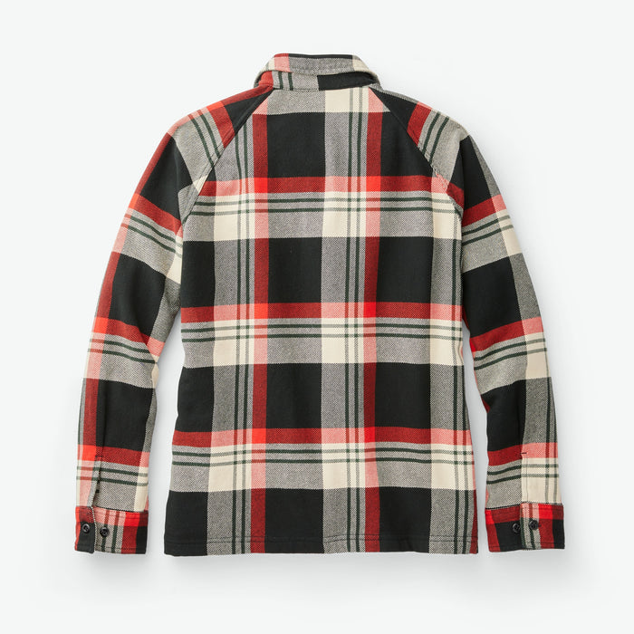 Filson Women's Vintage Flannel Jac Shirt, Black Red Cream Plaid