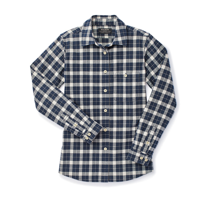 Filson Alaskan Guide Shirt, Dark Navy/Cream