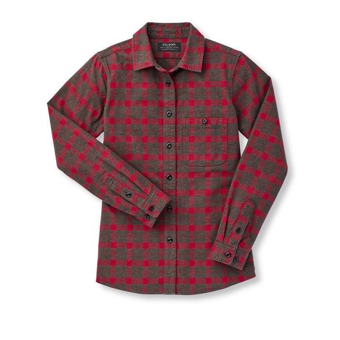 Filson Alaskan Guide Shirt, Heather Taupe/Red