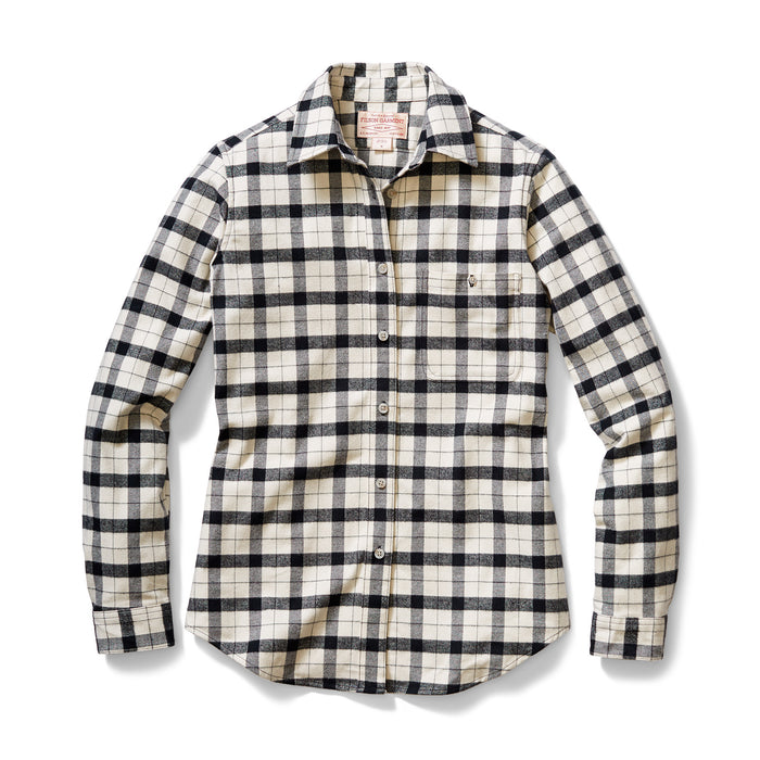 Filson Alaskan Guide Shirt, Cream/Black