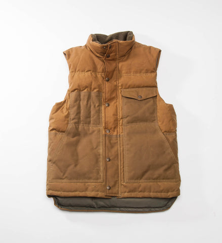 Filson Down Cruiser Vest, Dark Tan