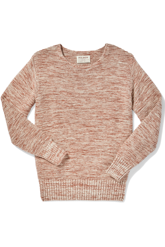 Filson Lake Quinault Crewneck Sweater, Natural Clay