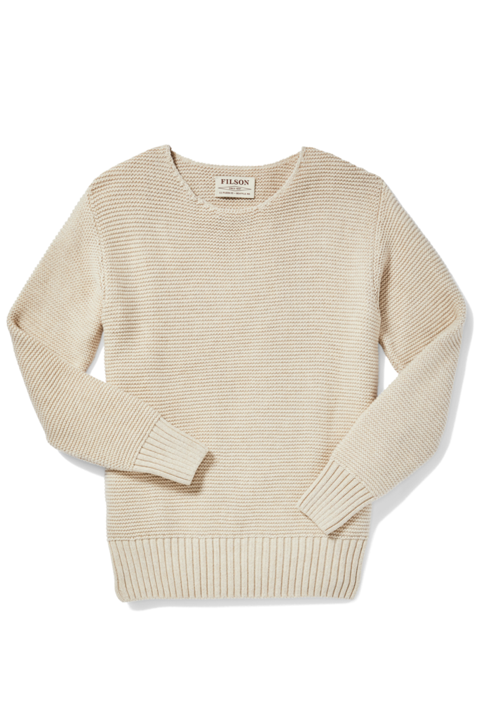 Filson Lake Quinault Crewneck Sweater, Natural Heather