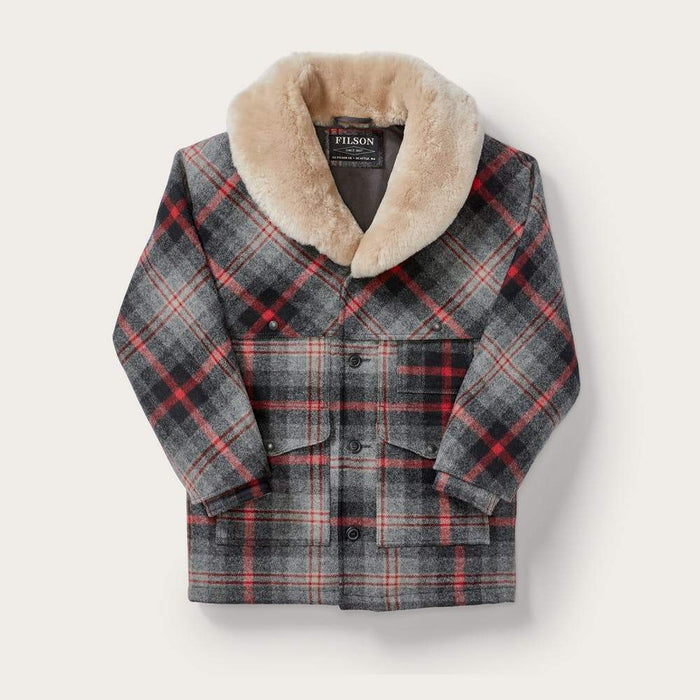 Filson Lined Wool Packer Coat, Red/Gray Plaid