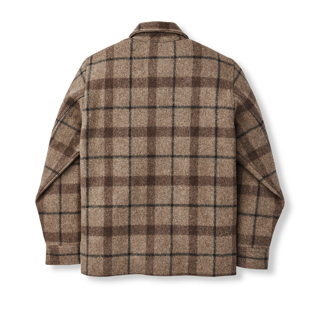 Filson Mackinaw Jac-Shirt, Taupe/Brown/Black Plaid