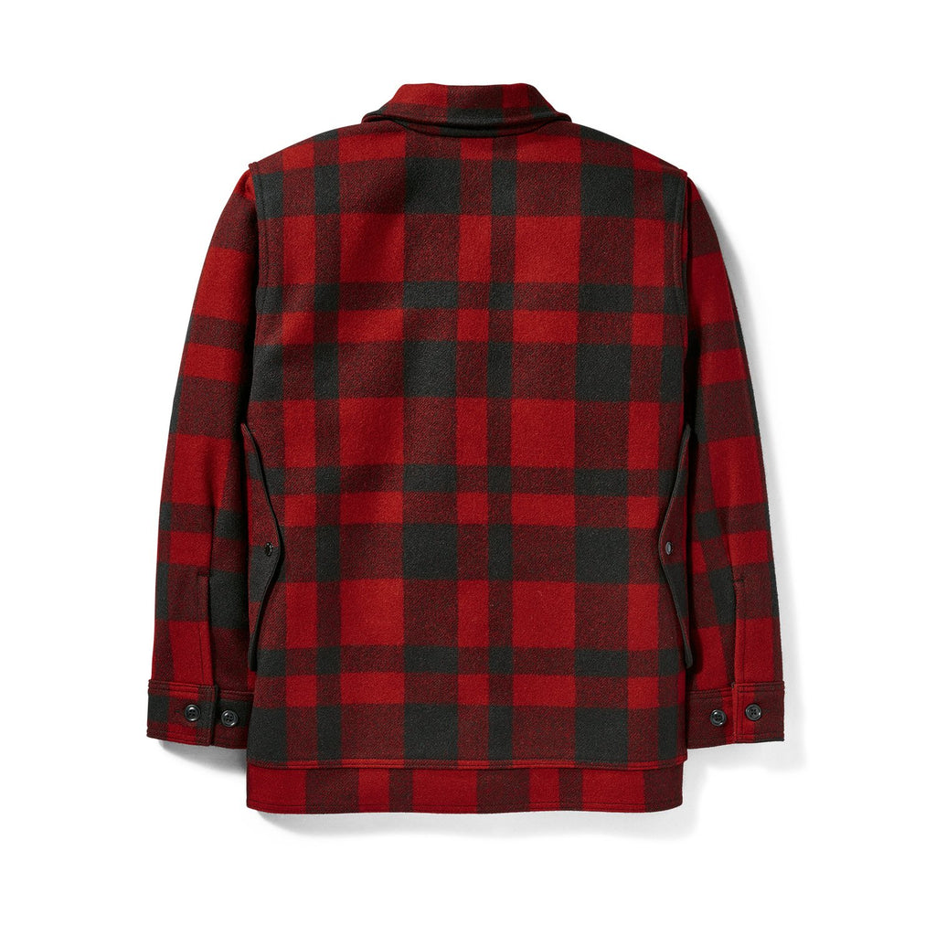 Filson Mackinaw Wool Cruiser, Red/Black Plaid