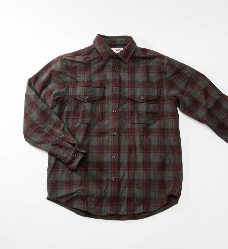 Filson Northwest Wool Shirt, Brown/Loden/Rust