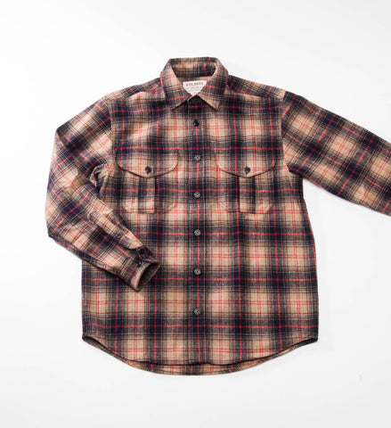 Filson Northwest Wool Shirt, Navy/Tan/Red