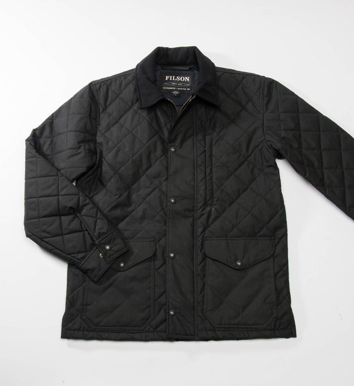 Filson Quilted Mile Marker, Navy Grey