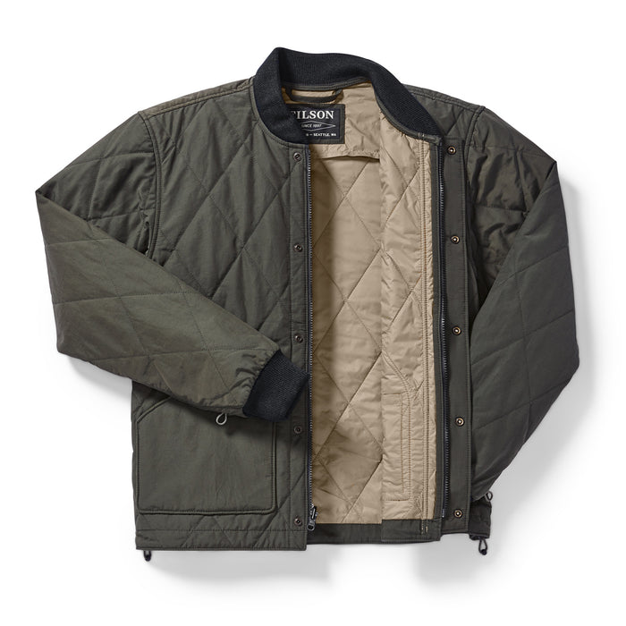 Filson Quilted Pack Jacket, Dark Otter Green