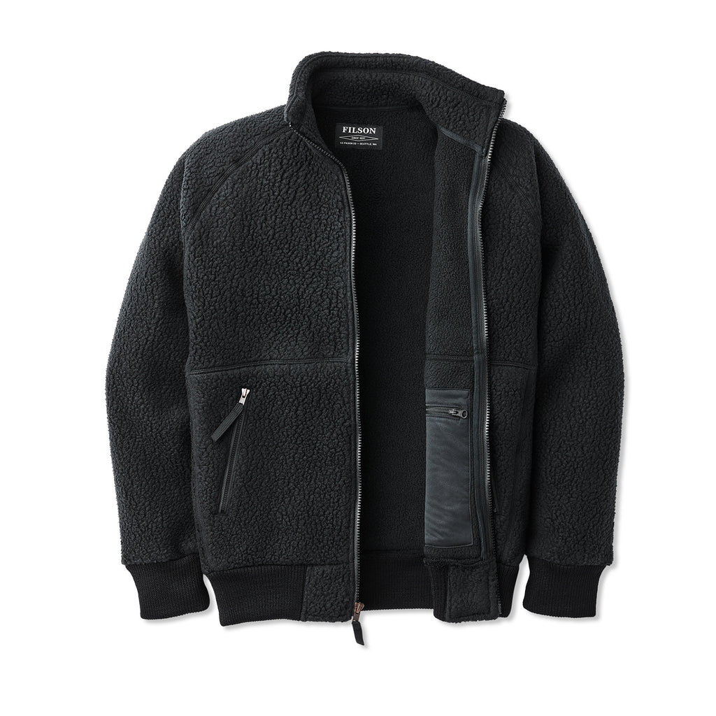 Filson Sherpa Fleece Jacket, Black