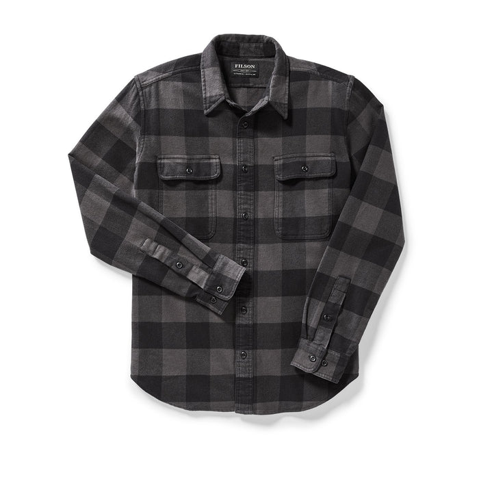 Filson Vintage Flannel Work Shirt, Black/Charcoal/Buffalo Check
