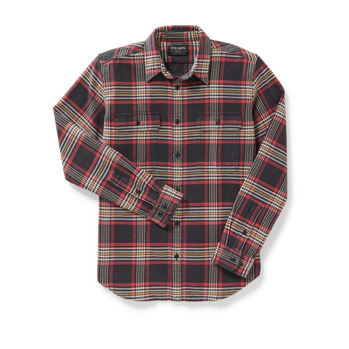 Filson Vintage Flannel Work Shirt, Black/Red/Gold Plaid
