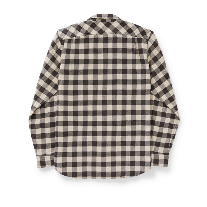 Filson Vintage Flannel Work Shirt, Brown/Tan/Buffalo Check