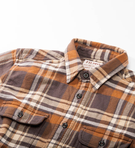 Filson Vintage Flannel Work Shirt, Tan/Gold/Cream