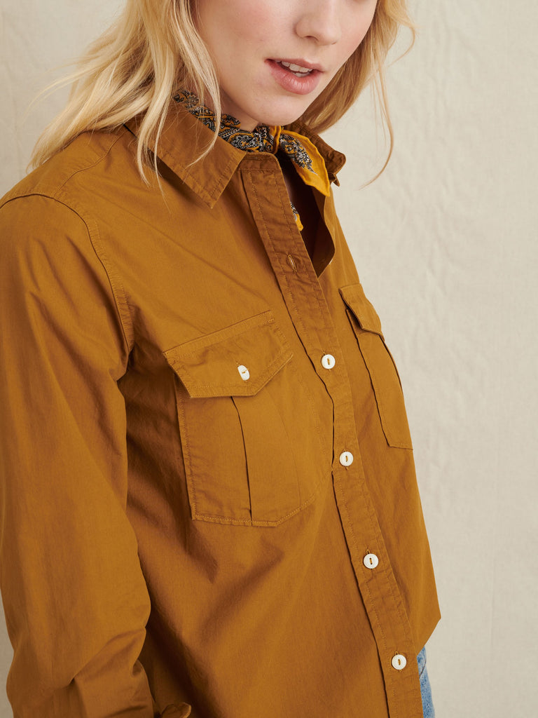 Alex Mill Georgie Pocket Shirt, Golden Khaki