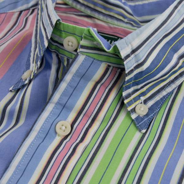 Gitman Vintage Button Down Shirt, Blue Multi Stripe