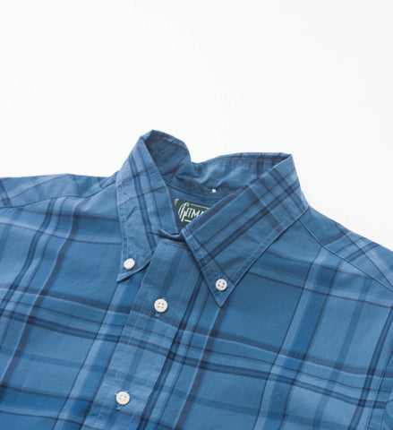 Gitman Vintage Blue Brushed Poplin BD Shirt