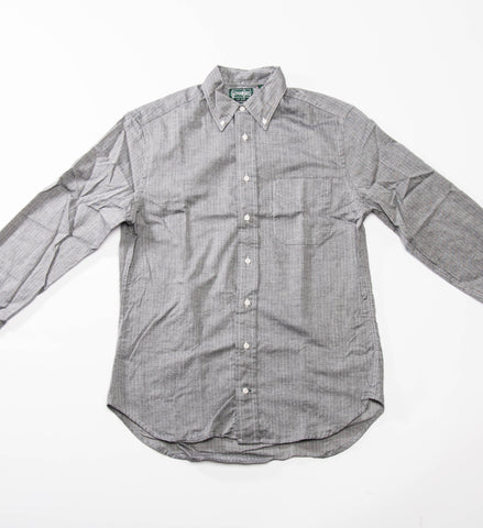 Gitman Vintage Herringbone Flannel Button Down Shirt, Charcoal