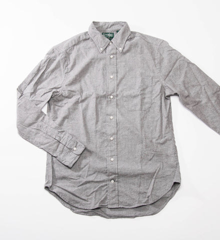 Gitman Vintage Solid Flannel Button Down Shirt, Grey