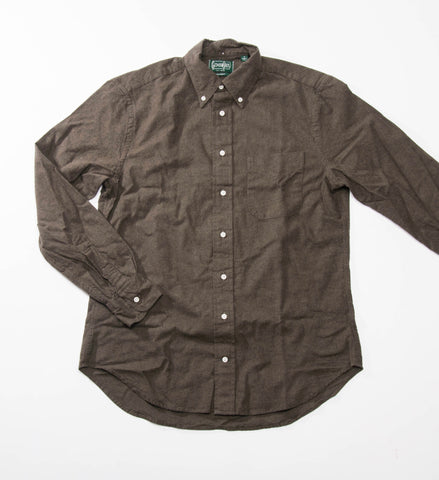 Gitman Vintage Solid Flannel Button Down Shirt, Olive