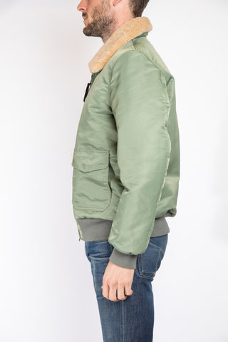 Golden Bear Sportswear Nylon Bomber Jacket, Green