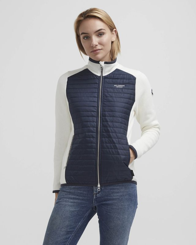 Holebrook Mimmi Full Zip WP , Off White/Navy