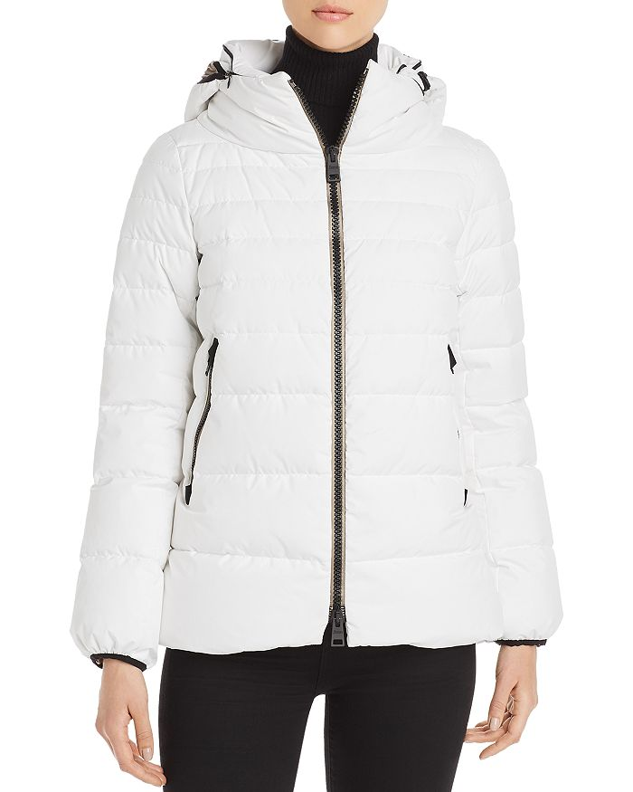 Herno Laminar Quilted Nylon A-Shape Coat w/ Hood (PI079DL-11106), White (1000)