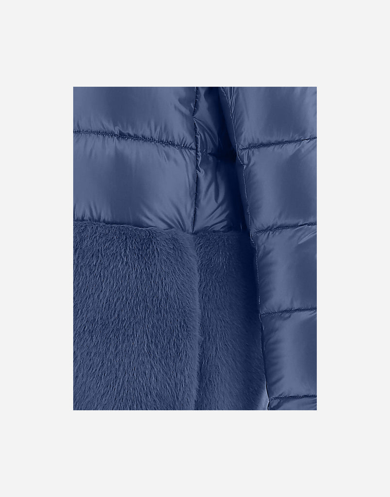 Herno NYLON ULTRALIGHT CAPE WITH ECOFUR
