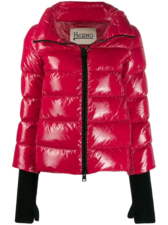 Herno 3/4 Length Short Glossy Jacket W/ Gloves (+colors)