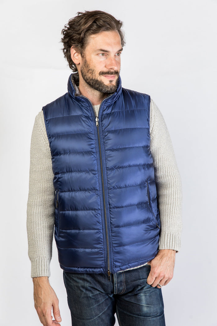 Herno Reversible Vest, Royal Blue