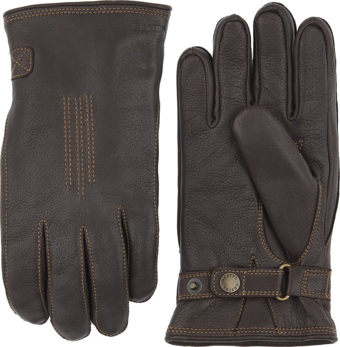 Hestra Deerskin Lambsfur Lined Glove, Dark Brown