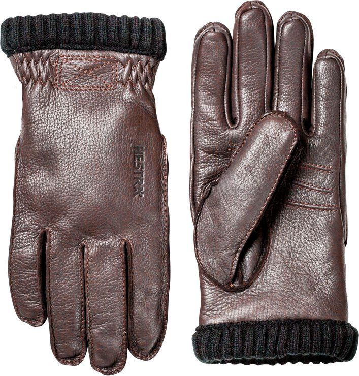 Hestra Gloves Deerskin Primaloft Glove Dark Brown