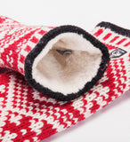 Hestra Nordic Wool Mitt, Red / Off White