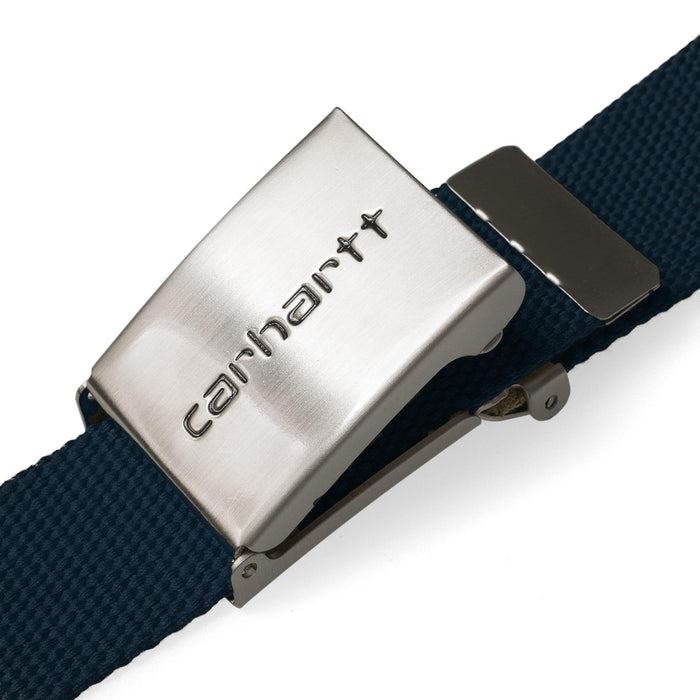 Carhartt WIP Clip Belt Chrome, Dark Navy