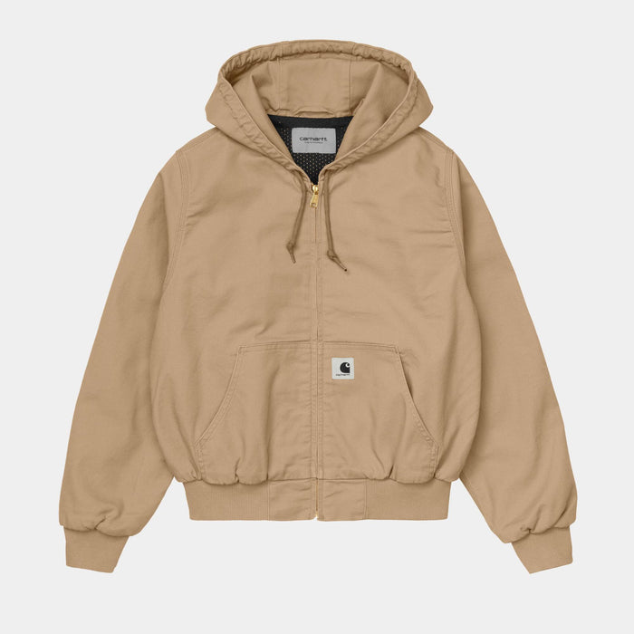 Carhartt WIP W Active Jacket, Dusty Hamilton Brown Rinsed
