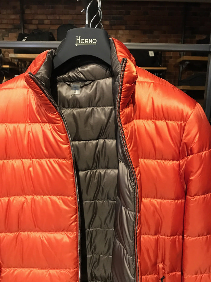 Herno Reversible Nylon Padded Jacket , Blaze Orange
