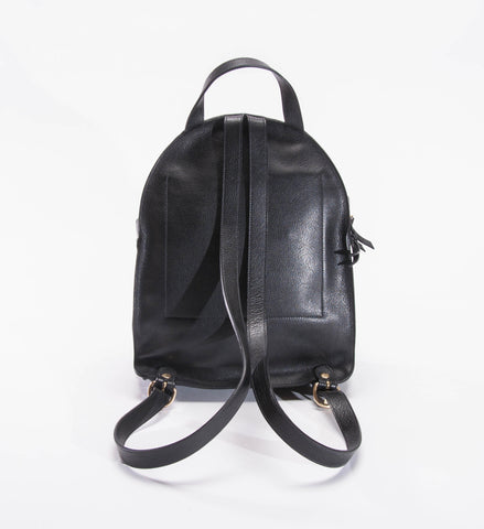 Il Bisonte Cowhide Backpack, Black