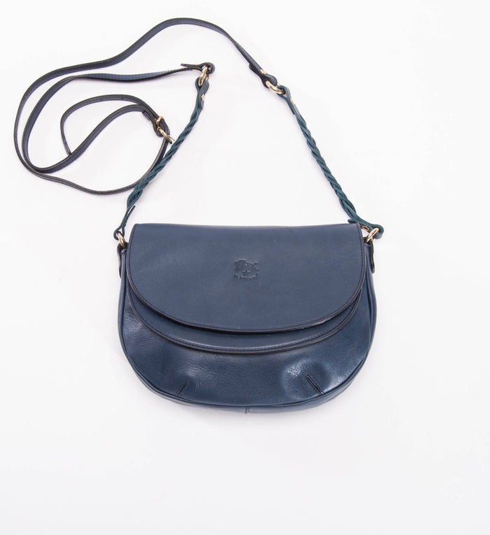 Il Bisonte Cowhide Crossbody Bag, Navy