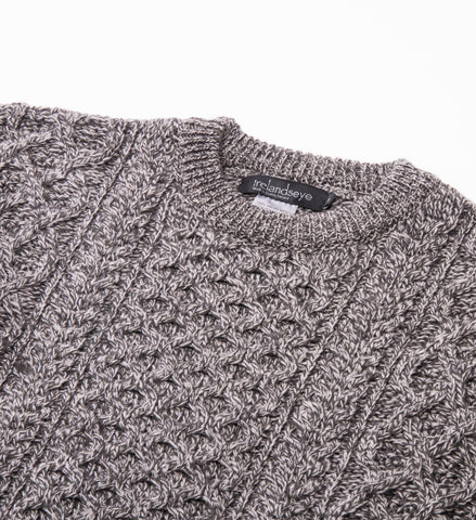 Men's Ireland's Eye Honeycomb Stitch Blasket Aran Sweater, Charcoal