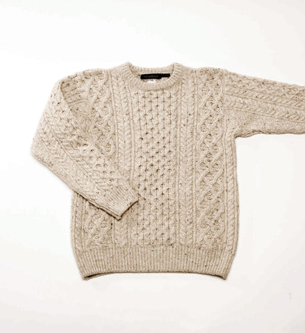Men's Ireland's Eye Carraig Luxe Aran Sweater, Chalkstone