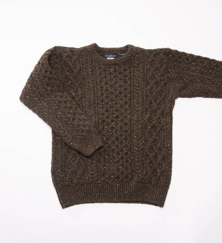 Men's Ireland's Eye Carraig Luxe Aran Sweater, Loden