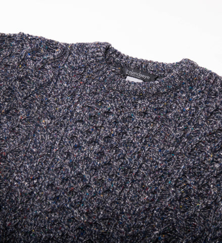 Men's Ireland's Eye Carraig Luxe Aran Sweater, Navy