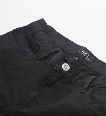 A.P.C. Cropped Washed Black Jeans