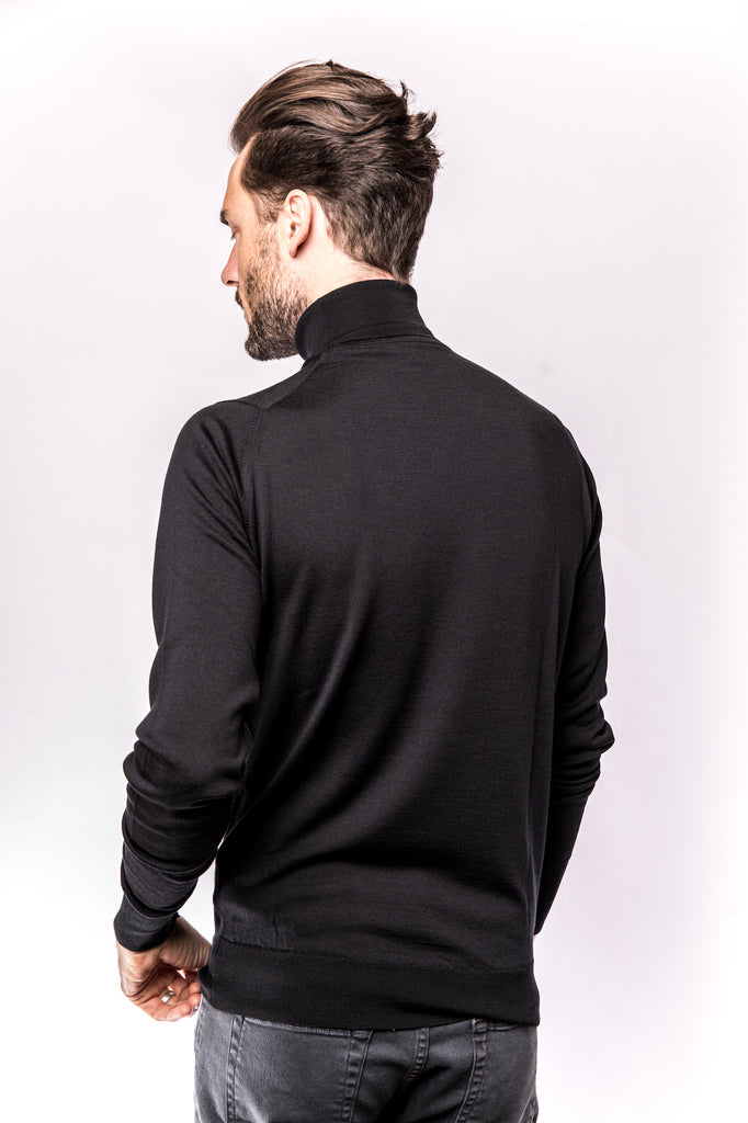John Smedley Richards Pullover Turtleneck black back