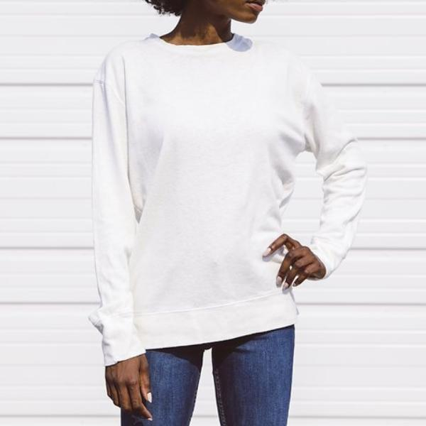 Jungmaven California Crewneck, Washed White (unisex)